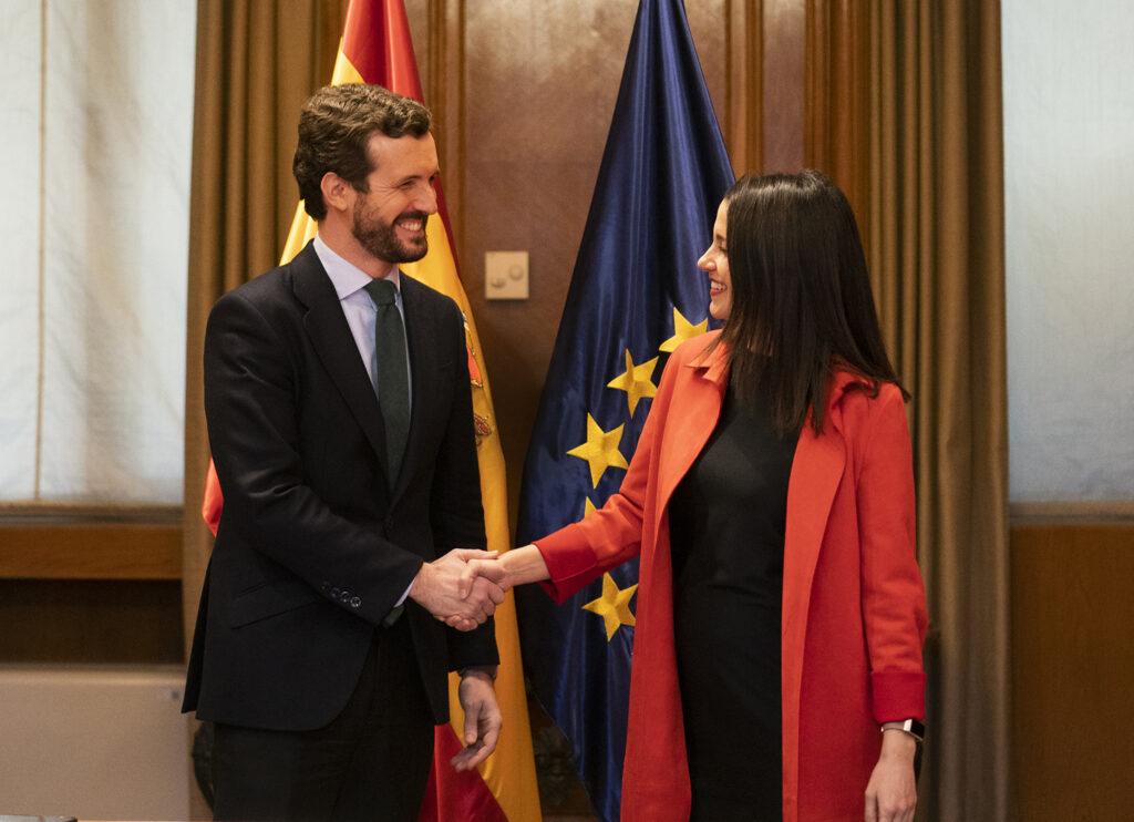 Pablo Casado amb Inés Arrimadas