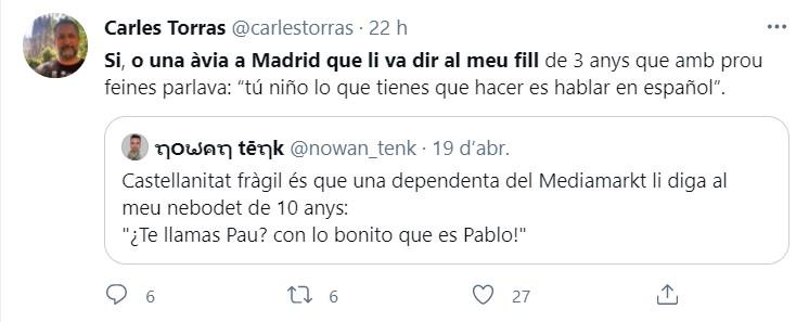 Piulada de Carles Torras