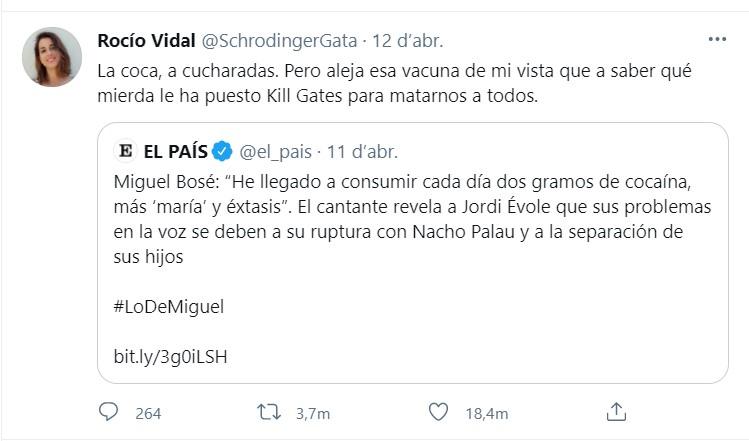 Piulada de Rocío Vidal