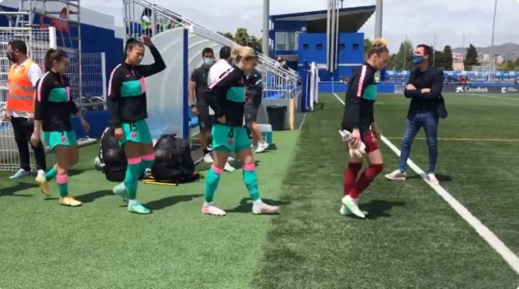 Jugadores del Barça femení