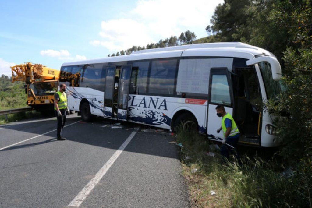 Tragèdia mortal en un accident d'autocar a Alcover
