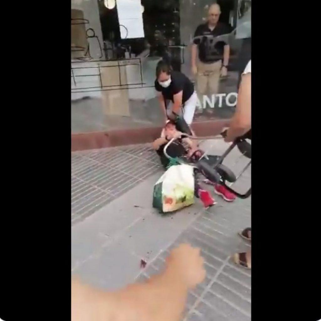 Dona agredida a Murcia
