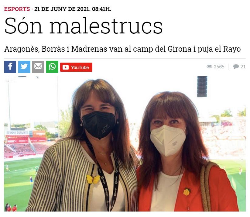 Laura Borràs i Marta Madrenas