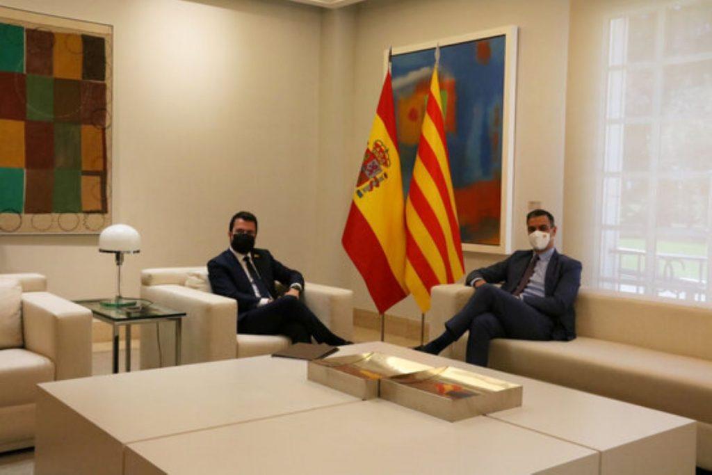 Reunió entre Pere Aragonès i Pedro Sánchez