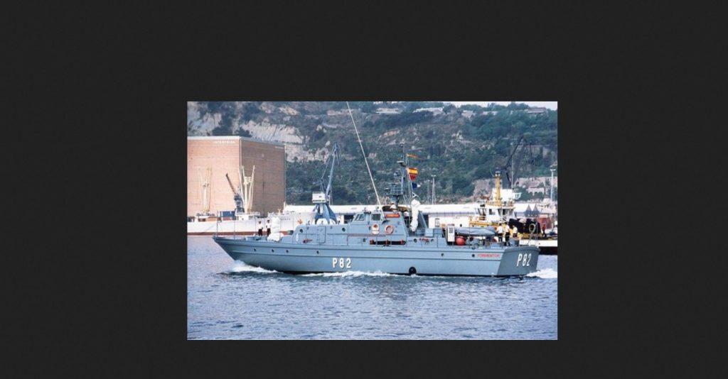 Un dels vaixells de l'armada espanyola