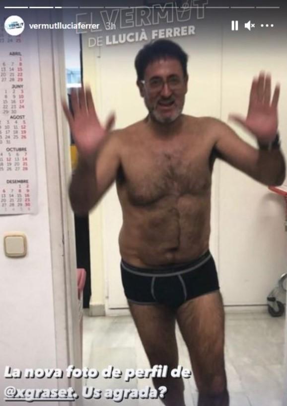 Xavier Graset en calçotets