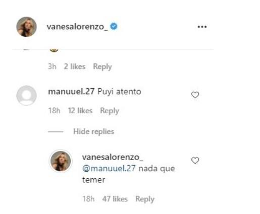 Comentari Vanesa Lorenzo