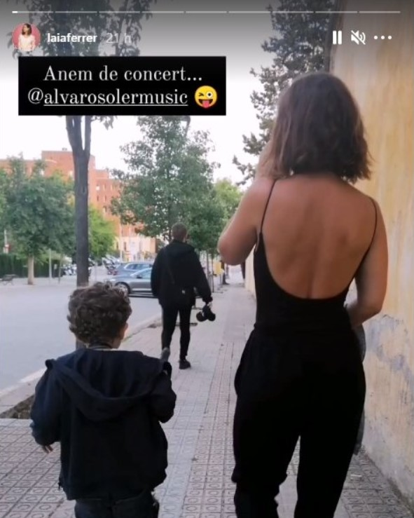 Laia Ferrer i el seu fill