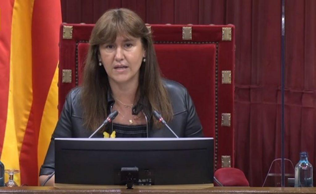 Laura Borràs al Parlament