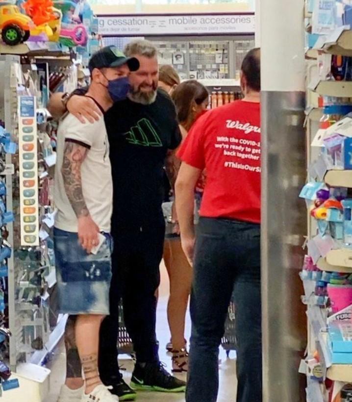 Leo Messi en un supermercat