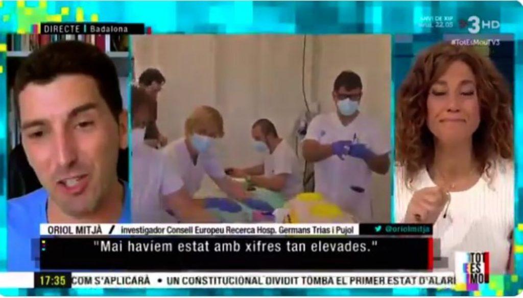 Oriol Mitjà participa a l'entrevista del Tot es Mou