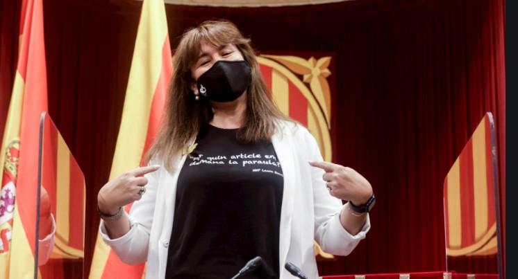 Samarreta de Laura Borràs