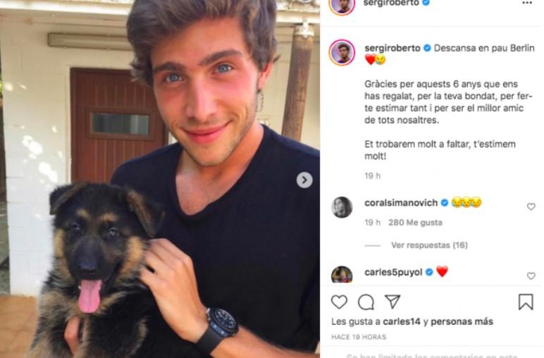 Sergio Roberto i el seu gos