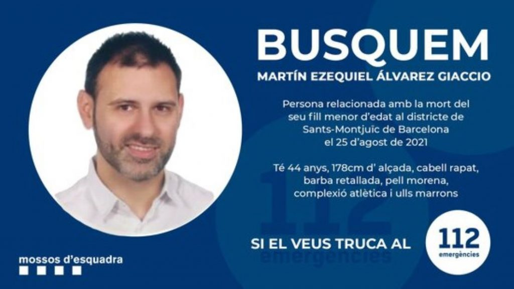 Apareix el cadàver del pare que va matar el seu fill de 2 anys a un hotel de Barcelona
