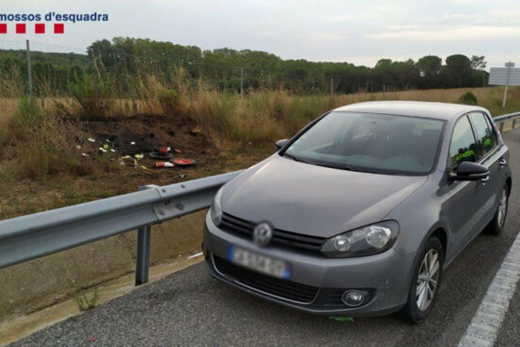 Un conductor francès col·loca obstacles a la carretera a Brunyola, provoca un incendi i l'enxampen amb droga