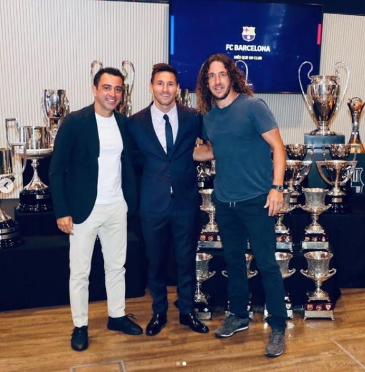 Xavi, Messi i Puyol