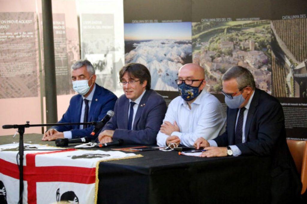 El President Puigdemont amb Gonzalo Boye