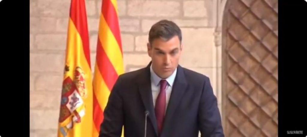 Pedro Sánchez parla sobre la taula de diàleg