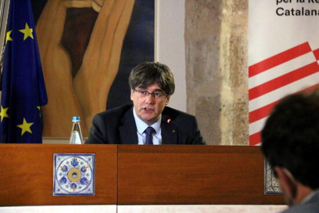El President Carles Puigdemont